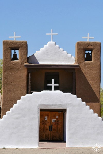 Taos Pueblo Church - famously photographed by Ansel Adams without color