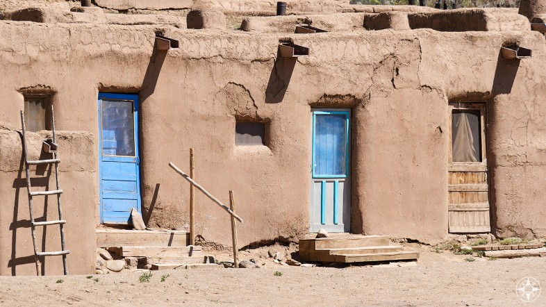 Pubelo Taos Blue Doors and Ladder, New Mexico, Ansel Adams photography, inspiration