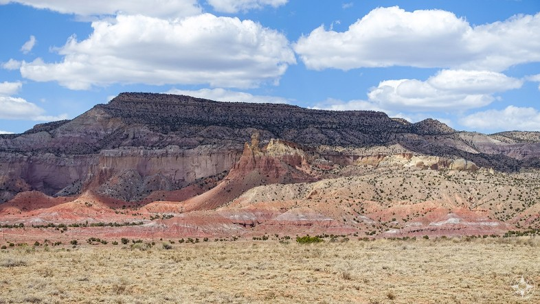The colorful landscape at Ghost Ranch, New Mexico.