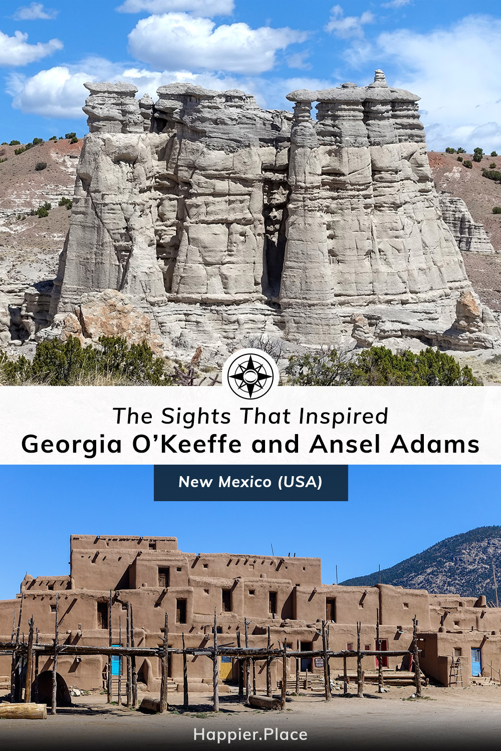 The Sights That Inspired Georgia O'Keeffe and Ansel Adams in New Mexico, Plaza Blanca, Pueblo Taos
