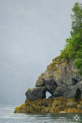 Rock hole, looking rock, cove, inlet, Kachemak Bay, Alaska