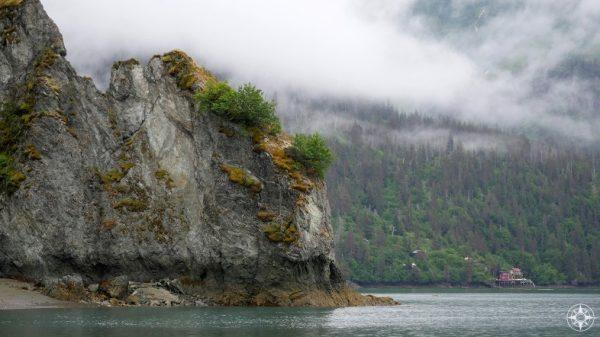 house, beach, Halibut Cove, Kachemak Bay, Alaska