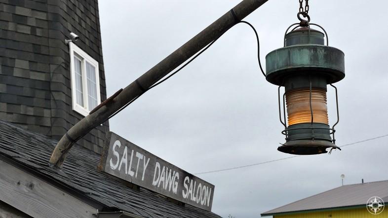 Salty Dawg Saloon, sign, light, lighthouse, Homer, Alaska