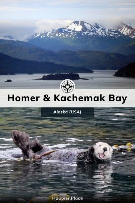 Kachemak Bay and Homer, Alaska, mountains, islands, sea otter
