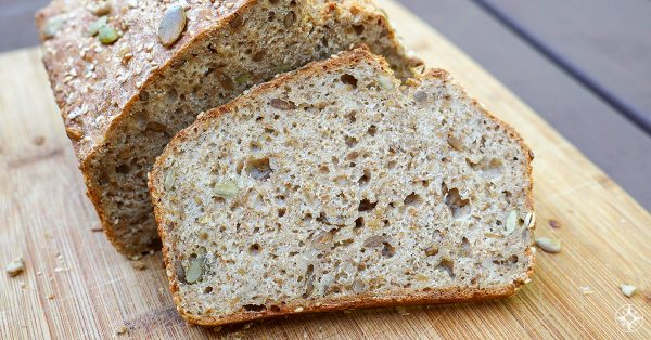 Bake at home Mehrkorn Blitzbrot, easy, super fast delicious, multi-grain, multi-seed, wholewheat, authentic German bread