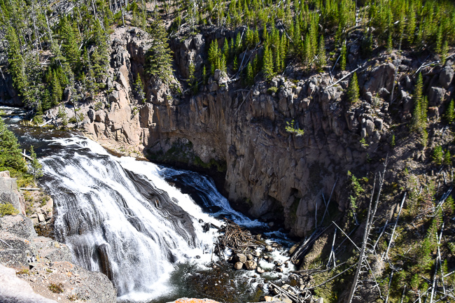 Gibbons Falls, Yellowstone NP, Lauren Gay, Outdoorsy Diva