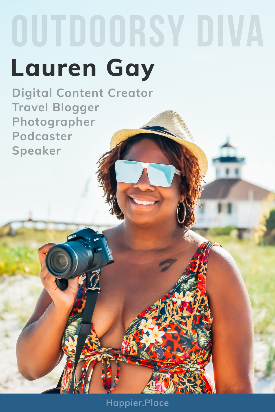 Lauren Gay, Outdoorsy Diva, Travel Blogger, Digital Content Creator, Photographer, Podcaster, and Speaker, in Florida, Happier Place