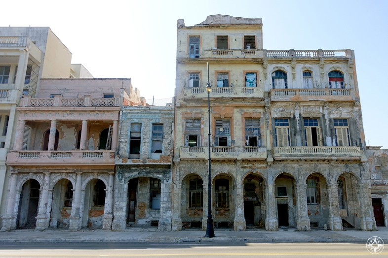 The extraordinary patina of Havana buildings facing the sea can not be replicated. How much longer will it last?