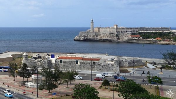 The Lighthouse of the Castillo del Morro and the Castillo de San Salvador de la Punta guard the mouth of the Havana Harbor