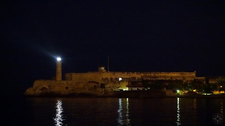 The Lighthouse Faro del Castillo del Morro at night, Cuba