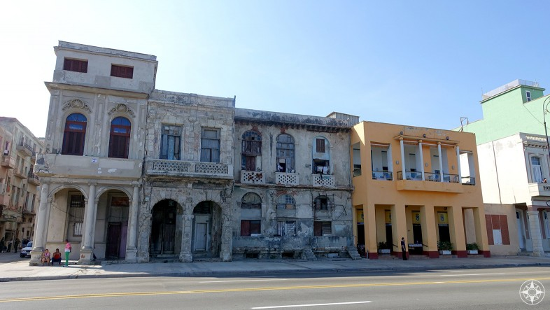 The Castropol Restaurant and its neighbors on the Malecón