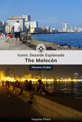Day and night along the Malecón, iconic seaside esplanade, Havana, Cuba, Happier Place