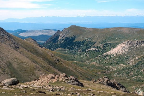 More mountain and valley views along the drive to the summit of Pikes Peak, Colorado