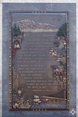 Lyrics of America The Beautiful on the top of the mountain that inspired the song