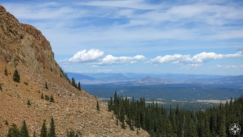 Mountain and valley view, Pikes Peak, Colorado, HappierPlace