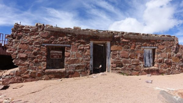 The Old, Old Pikes Peak Summit House - constructed in 1873.