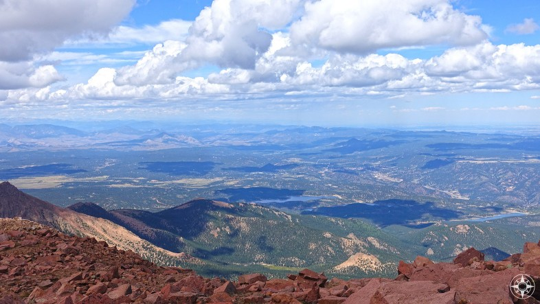 North-East View from Pikes Peak Summit