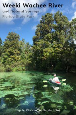 Kayaking down the Weeki Wachee River and having fun at the Weeki Wachee Springs State Park in Florida