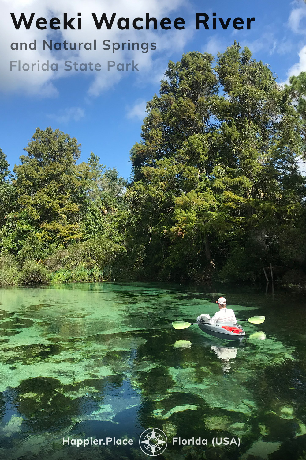 Kayaking down the Weeki Wachee River and having fun at the Weeki Wachee Springs State Park in Florida