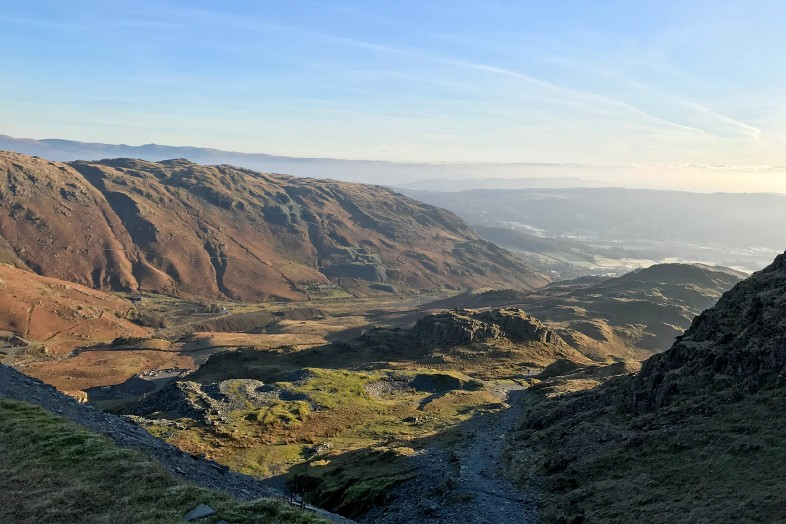 View from Scafell, Lake District, England, Mountains of Britain, Happier Place