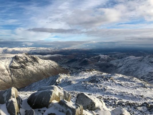 Ben Nevis summit, Grampian Mountain Range, Scotland, Mountains of Great Britain