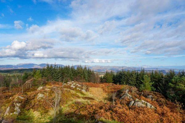 Colorful autumn views, mountain ridge, Lake District, England, Mountains of Britain