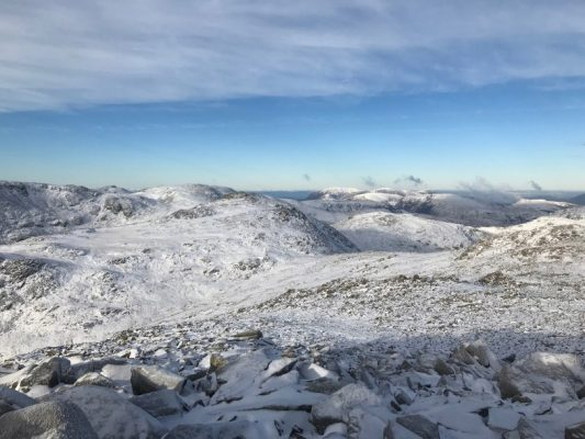 Summit of Ben Nevis, Grampian Mountain Range, Scotland, Great Britain, hidden history