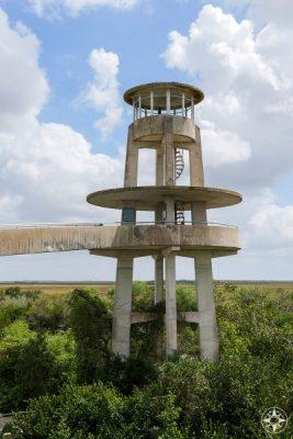 Observation Tower in Shark Valley, Everglades National Park, Florida