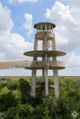 Observation Tower in Shark Valley, Everglades National Park, Florida