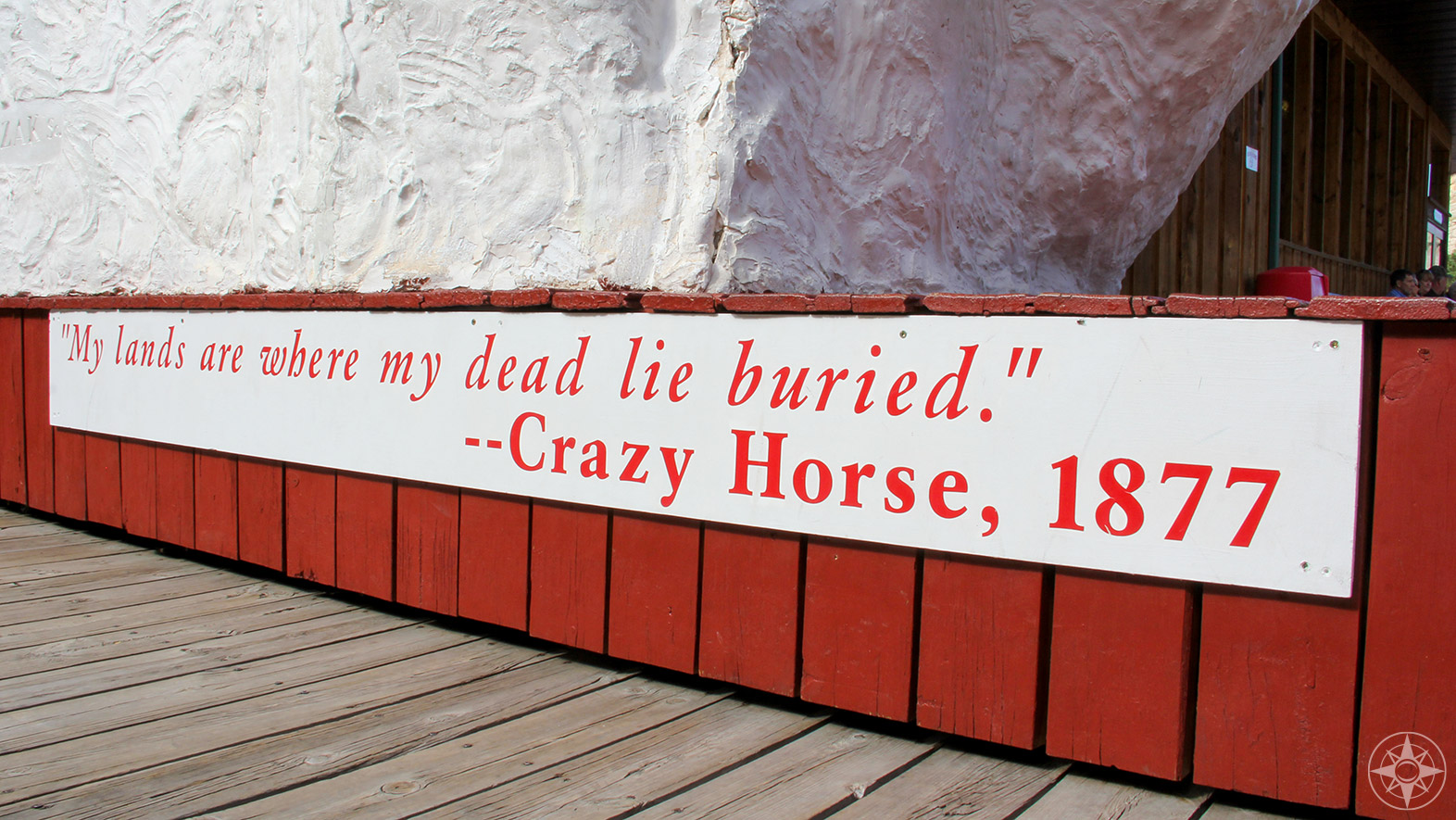 My lands are where my dead are buried. Crazy Horse quote, 1877
