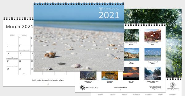 2021 Happier Place Nature Photography Calendar