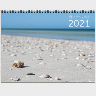 2021 Happier Place Nature Photography Calendar seashell beach Honeymoon Island Florida