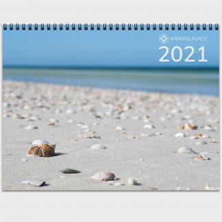 2021 Happier Place Nature Photography Calendar seashell beach Honeymoon Island Florida