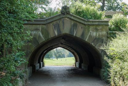 Tunnel Arch Bridge leading into Prospect Park, Brooklyn, pic154: Prospect Park Arch, postcard