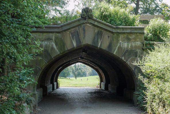 Tunnel Arch Bridge leading into Prospect Park, Brooklyn, pic154: Prospect Park Arch, postcard