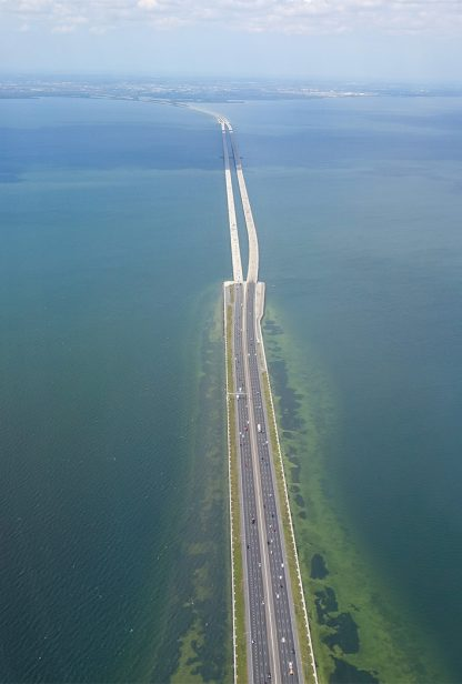 Howard Frankland Bridge I-275 crossing Tampa Bay towards Clearwater, Florida, pic186, Frankland Bridge 275