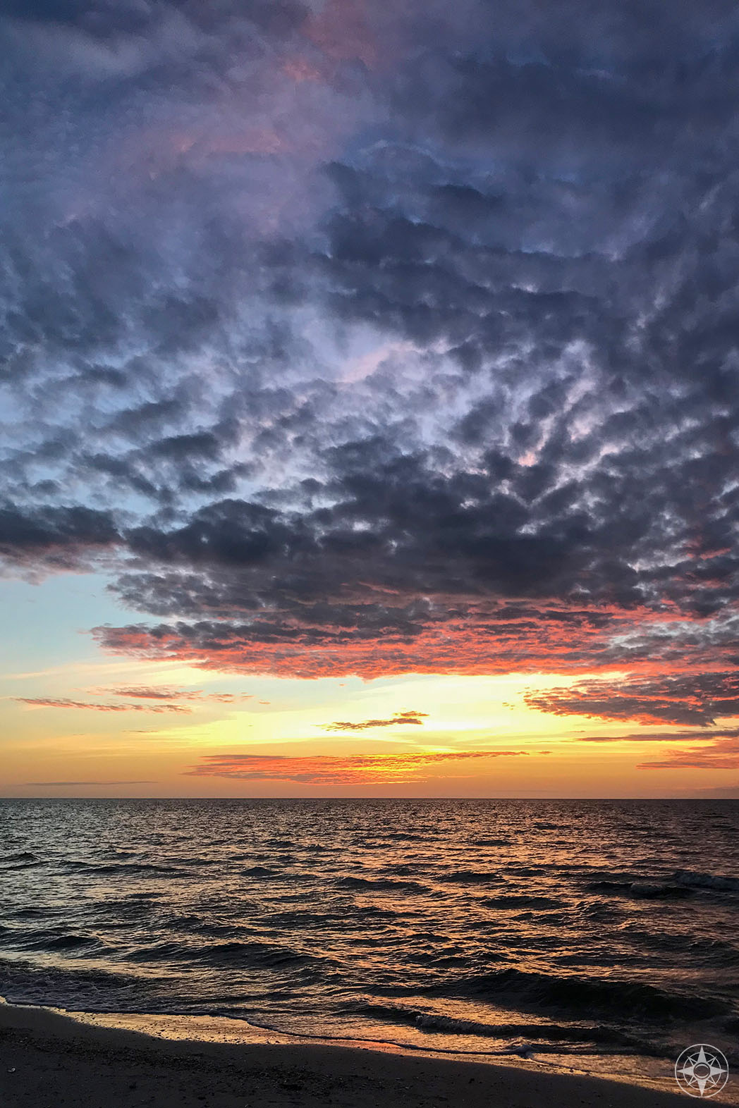 Sunset sky over gulf of Mexico