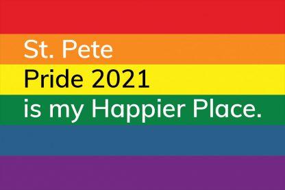 St. Pete Pride 2021 is my Happier Place. postcard txt223