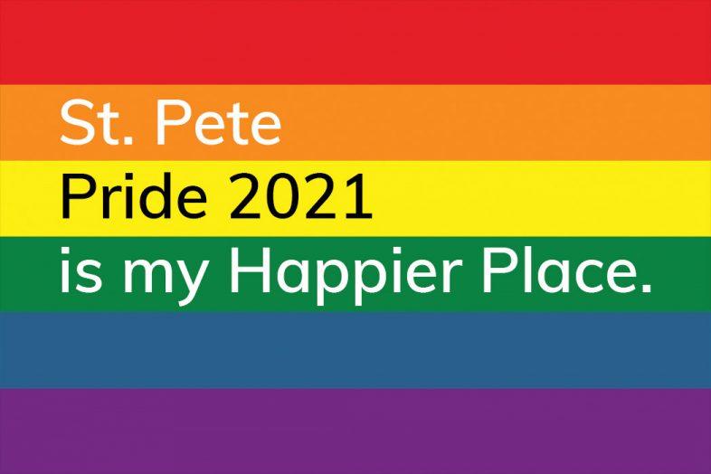 St. Pete Pride 2021 is my Happier Place postcard