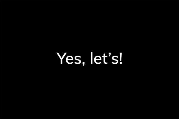 Yes, let's! - HappierPlace txt216 black