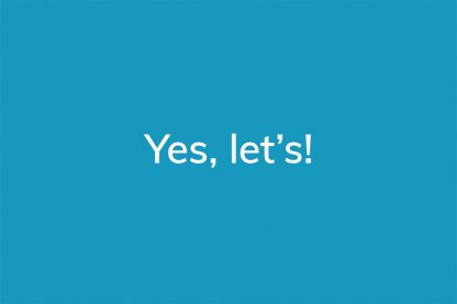 Yes, let's! - HappierPlace txt215 blue