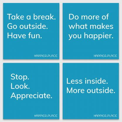 get-happier, stickers, happier place, blue