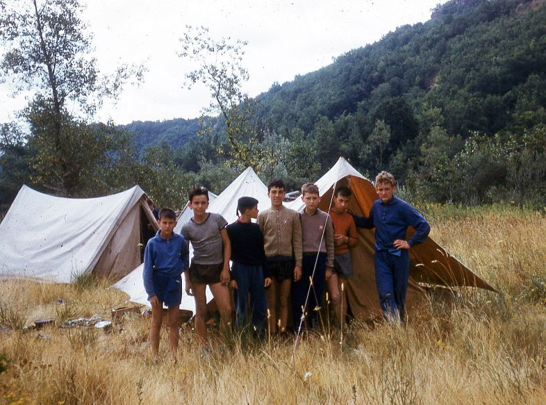 French scouting group, Dordogne, tent, 1962, Claude Heron