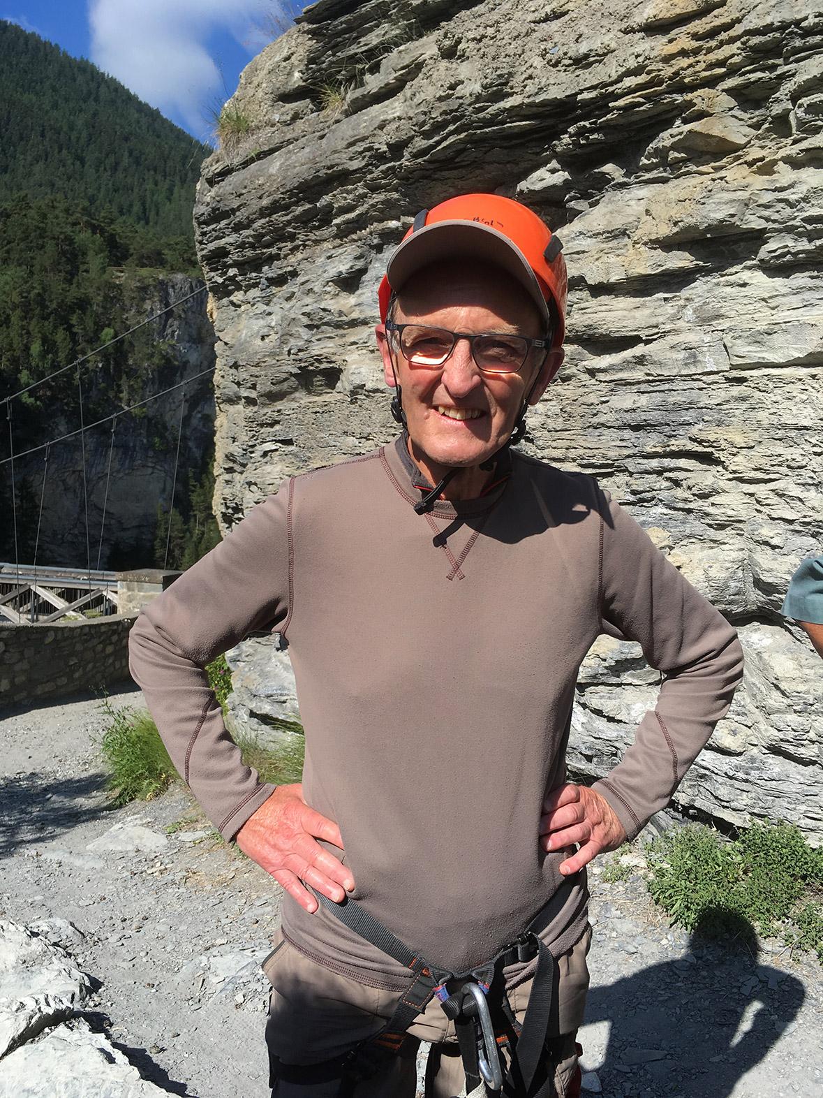 Claude Heron, hiking, climbing, trekking, Alps, Via Ferratta
