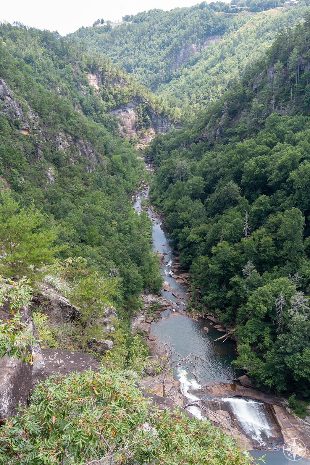 Oceana Falls and the Tallulah Gorge stretch before the Horseshoe Bend hides the river run