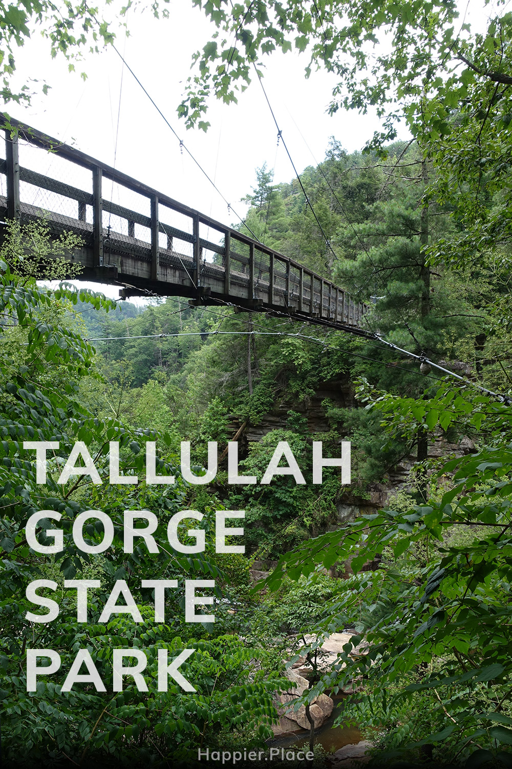 Tallulah Falls in the Tallulah Gorge State Park, Georgia, USA, waterfalls, river, canyon, Happier Place